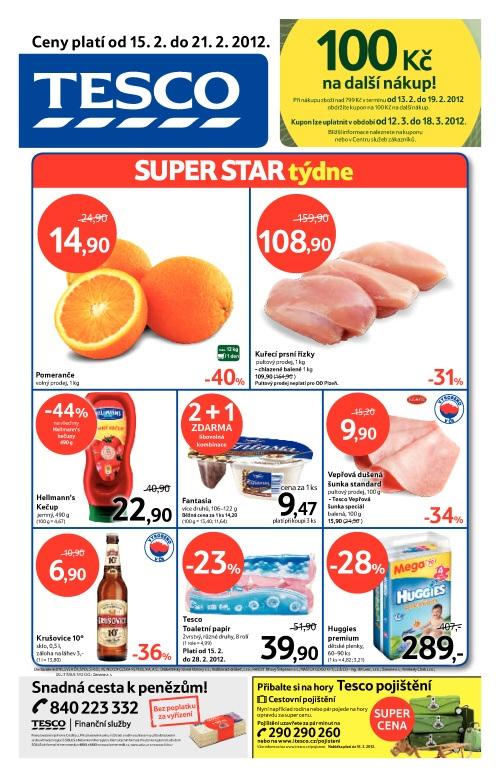 Leták Tesco hypermarket (od 16.2. do 21.2.2012)