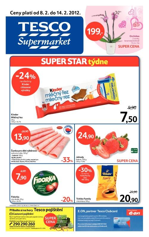 Leták Tesco supermarket (od 8. únor 2012 do 14. únor 2012)