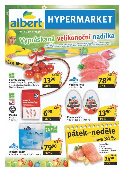 Leták Albert hypermarkety (od 21. březen 2012 do 27. březen 2012)