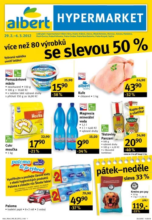 Leták Albert hypermarkety (od 29. únor 2012 do 6. březen 2012)