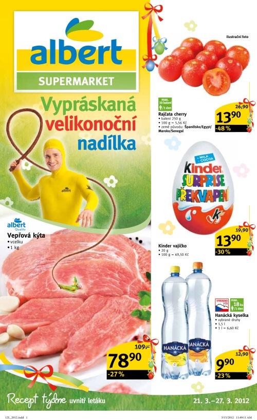 Leták Albert supermarkety (od 21. březen 2012 do 27. březen 2012)