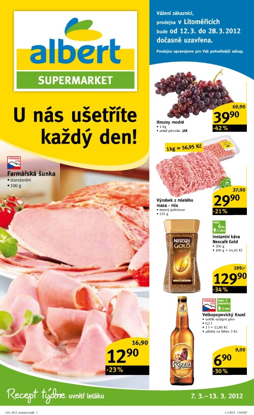 Leták Albert supermarkety (od 7.3.2012 do 13.3.2012)