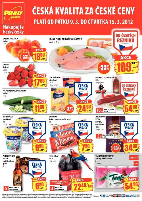 Leták Penny Market  (od 9.3.2012 do 15.3.2012)