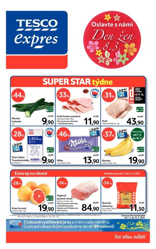 Leták Tesco prodejny expres (od 7.3.2012 do 13.3.2012)