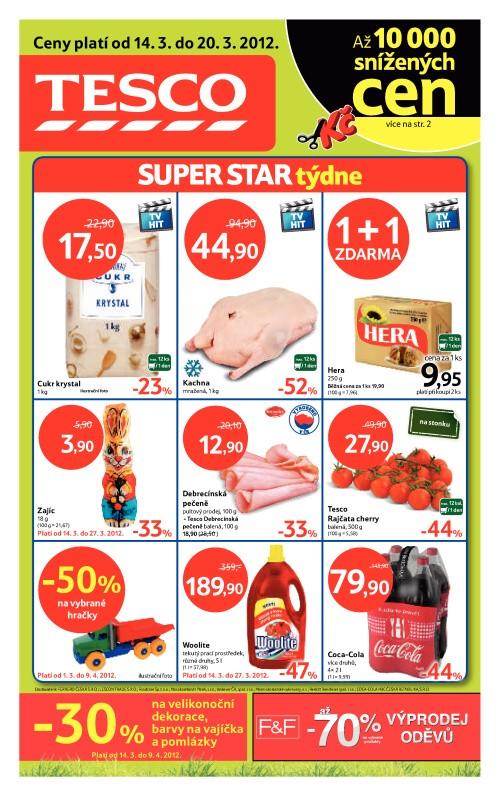 Leták Tesco hypermarkety (od 14. březen 2012 do 20. březen 2012)