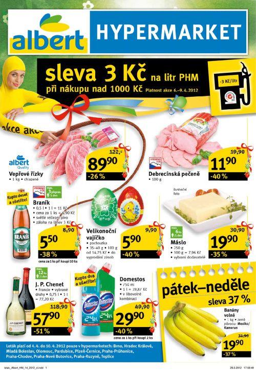 Leták Albert hypermarkety (od 4. duben 2012 do 10. duben 2012)