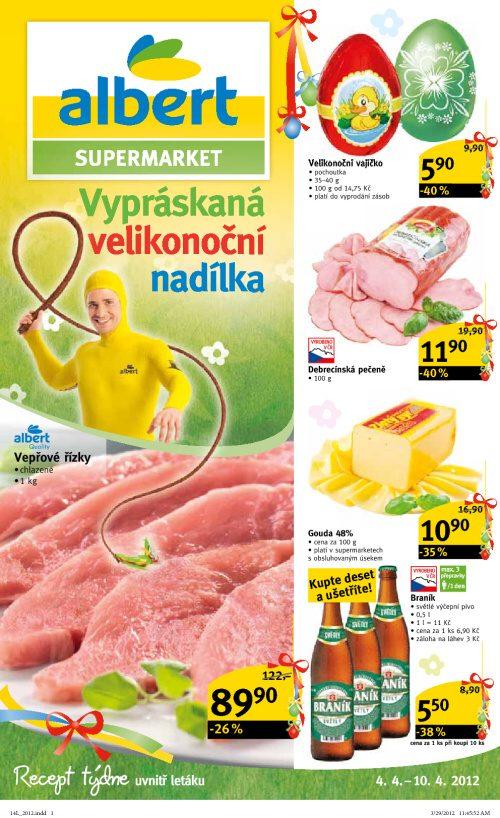 Leták Albert supermarkety (od 4. duben 2012 do 10. duben 2012)