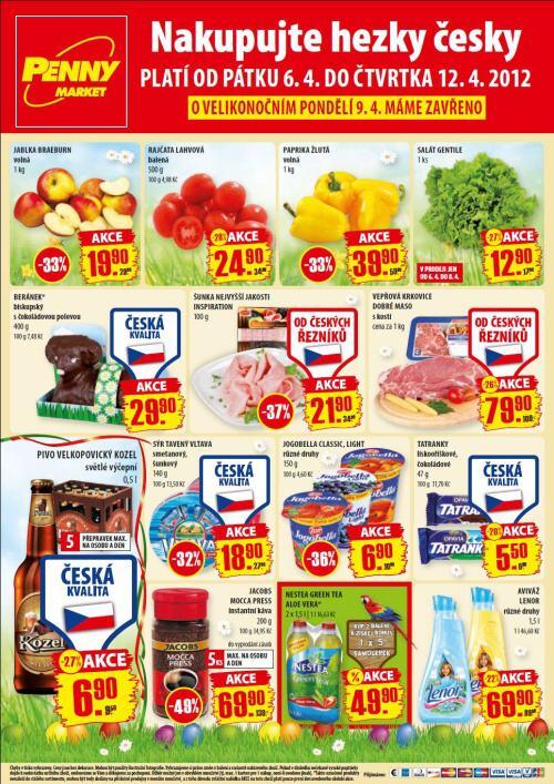 Leták Penny Market  (od 6. duben 2012 do 12. duben 2012)