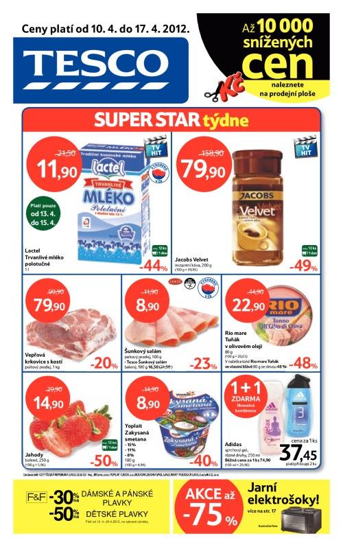 Leták Tesco hypermarkety (od 10. duben 2012 do 17. duben 2012)