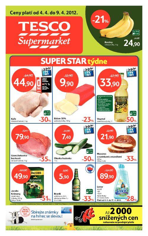 Leták Tesco supermarkety (od 4. duben 2012 do 9. duben 2012)