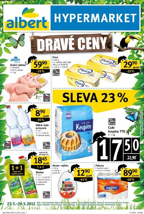 Leták Albert hypermarkety (od 23. květen 2012 do 29. květen 2012)