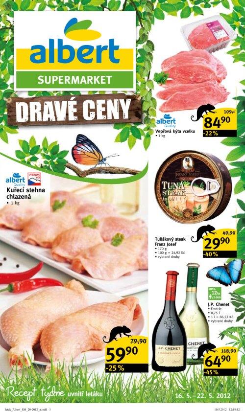 Leták Albert supermarkety (od 16. květen 2012 do 22. květen 2012)