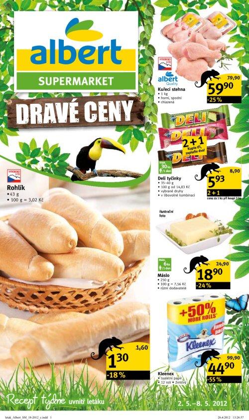 Leták Albert supermarkety (od 2. květen 2012 do 8. květen 2012)