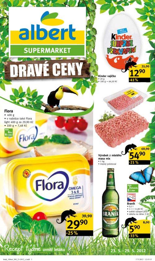 Leták Albert supermarkety (od 23. květen 2012 do 29. květen 2012)