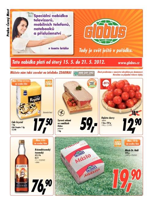 Leták Globus obchody (od 15. květen 2012 do 21. květen 2012)