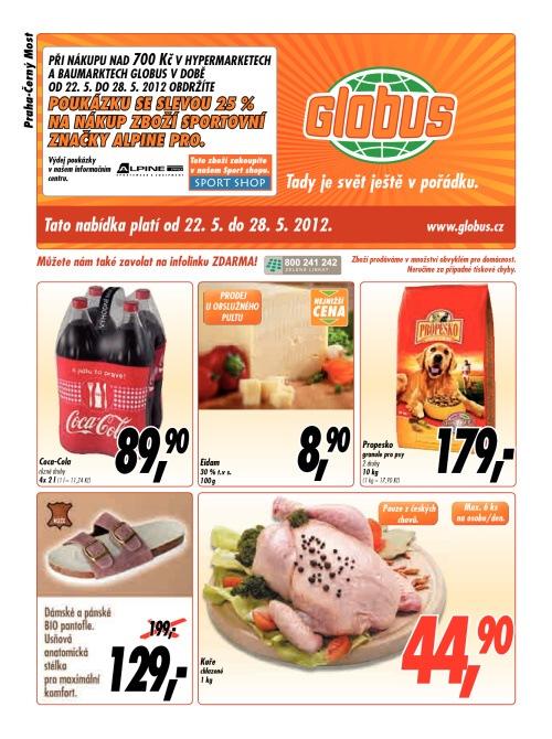 Leták Globus obchody (od 22. květen 2012 do 28. květen 2012)