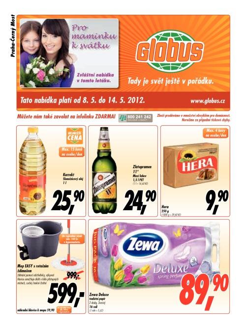 Leták Globus  (od 8. květen 2012 do 14. květen 2012)