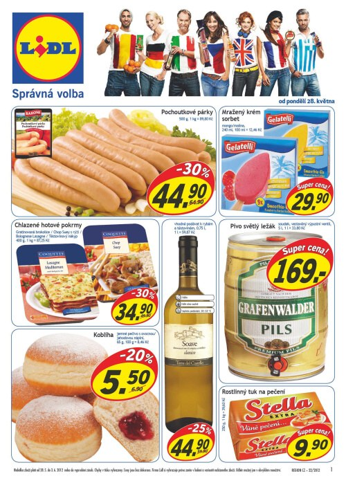 Leták Lidl obchody (od 28. květen 2012 do 3. červen 2012)