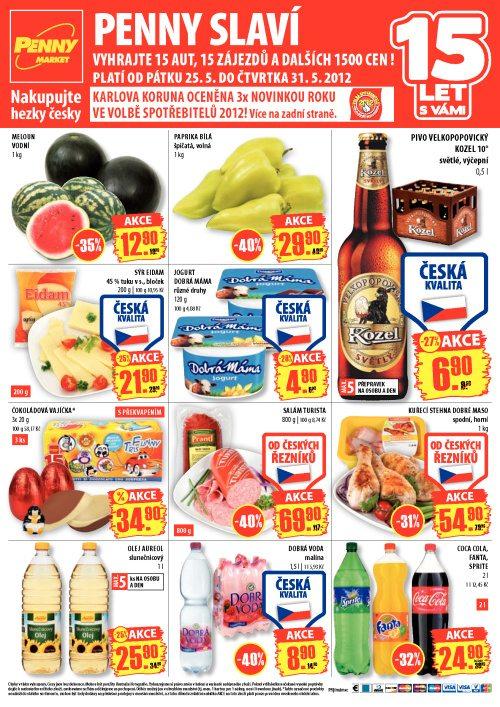 Leták Penny Market  (od 25. květen 2012 do 31. květen 2012)