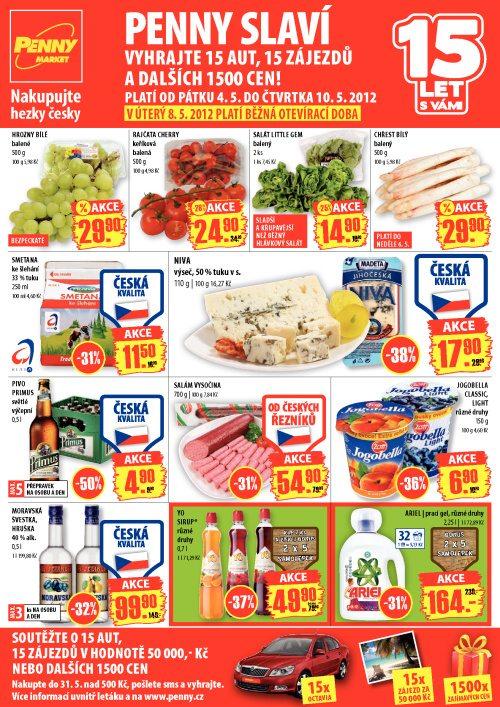 Leták Penny Market  (od 4. květen 2012 do 10. květen 2012)