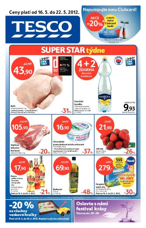 Leták Tesco hypermarkety (od 16. květen 2012 do 22. květen 2012)