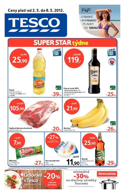 Leták Tesco hypermarkety (od 2. květen 2012 do 8. květen 2012)