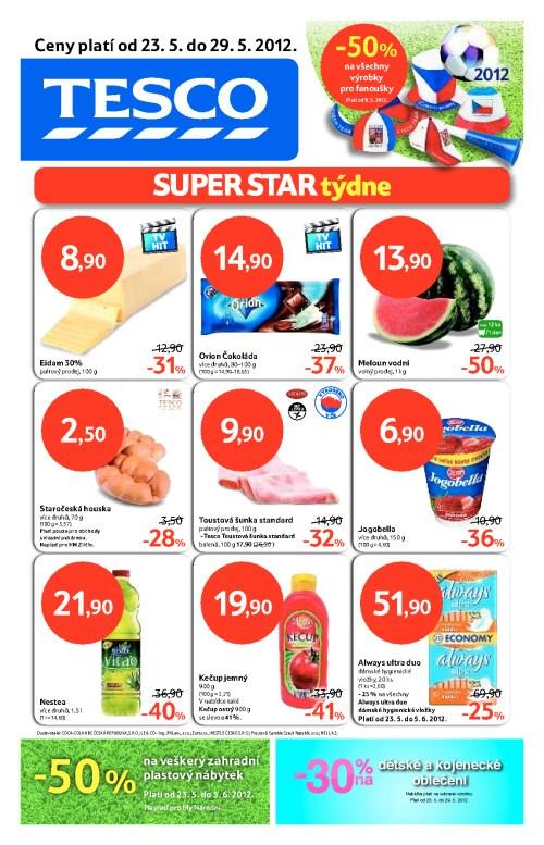 Leták Tesco hypermarkety (od 23. květen 2012 do 29. květen 2012)