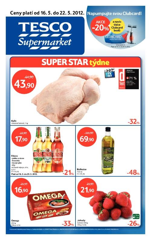 Leták Tesco supermarkety (od 16. květen 2012 do 22. květen 2012)