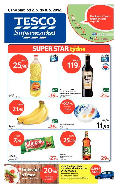 Leták Tesco supermarkety (od 2. květen 2012 do 8. květen 2012)
