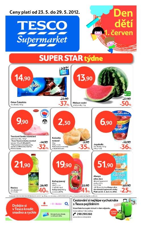 Leták Tesco supermarkety (od 23. květen 2012 do 29. květen 2012)