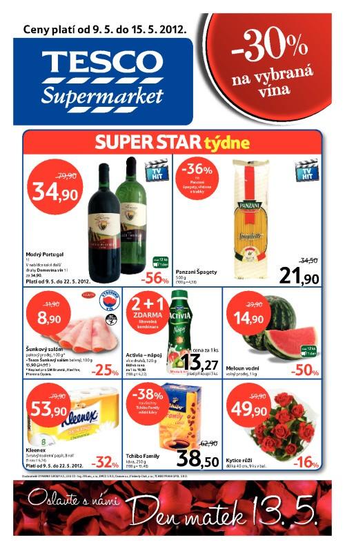 Leták Tesco supermarkety (od 9. květen 2012 do 15. květen 2012)