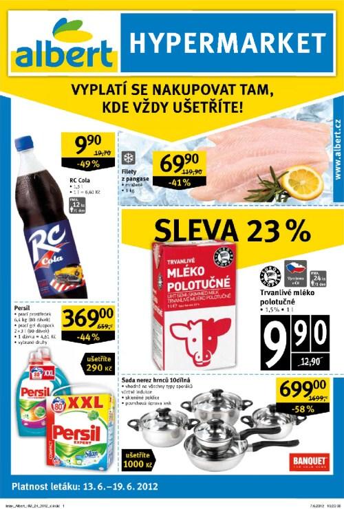 Leták Albert hypermarkety (od 13. červen 2012 do 19. červen 2012)