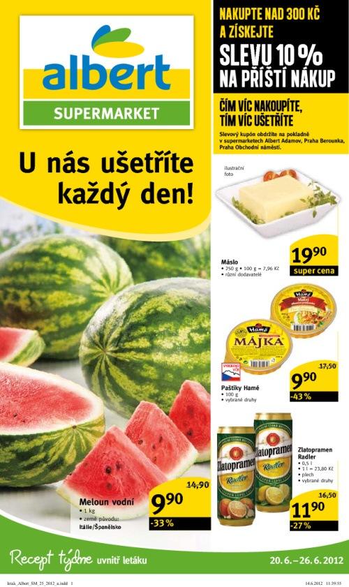 Leták Albert supermarkety (od 20. červen 2012 do 26. červen 2012)