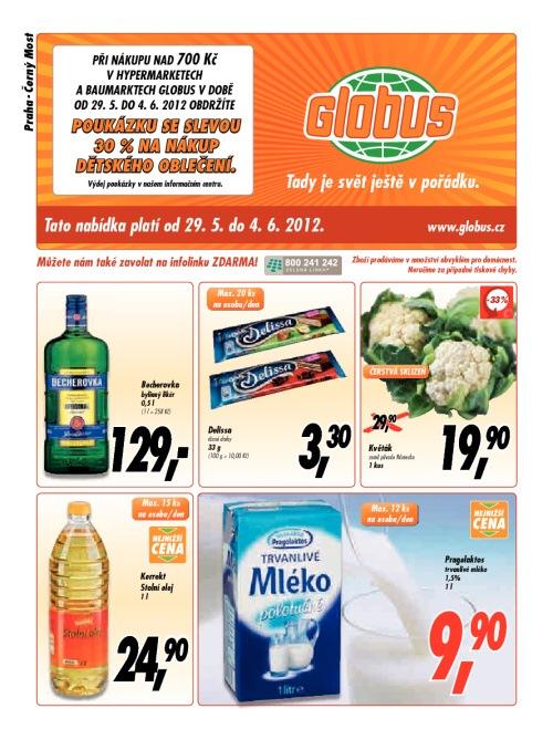 Leták Globus obchody (od 29. květen 2012 do 4. červen 2012)