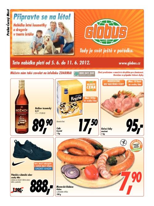 Leták Globus obchody (od 5. červen 2012 do 11. červen 2012)