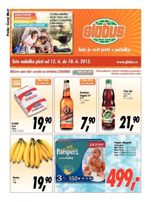 Leták Globus  (od 12. červen 2012 do 18. červen 2012)