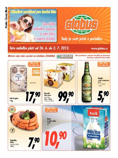 Leták Globus  (od 26. červen 2012 do 2. červenec 2012)
