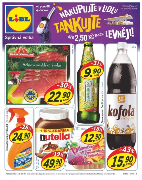 Leták Lidl obchody (od 4. červen 2012 do 10. červen 2012)