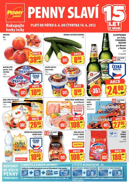 Leták Penny Market  (od 8. červen 2012 do 14. červen 2012)