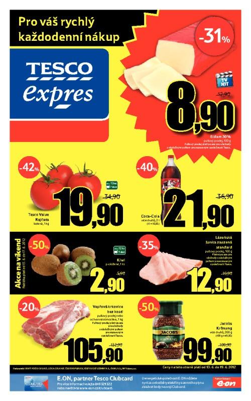 Leták Tesco expres (od 13. červen 2012 do 19. červen 2012)