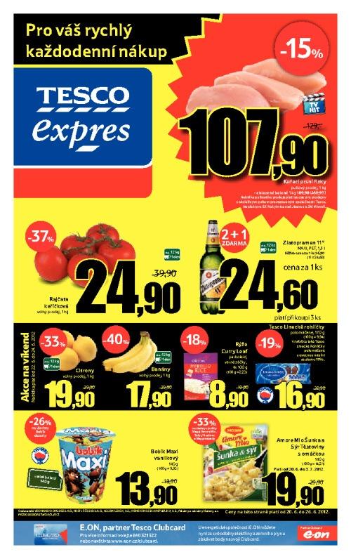 Leták Tesco expres (od 20. červen 2012 do 26. červen 2012)