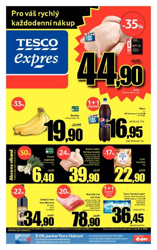 Leták Tesco expres (od 6. červen 2012 do 12. červen 2012)