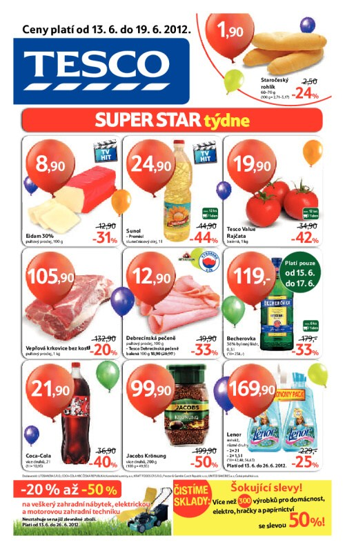 Leták Tesco hypermarkety (od 13. červen 2012 do 19. červen 2012)