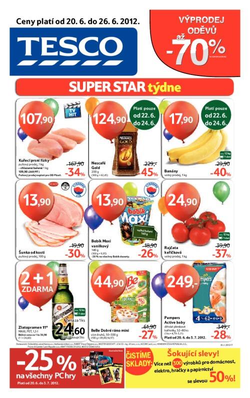 Leták Tesco hypermarkety (od 20. červen 2012 do 26. červen 2012)