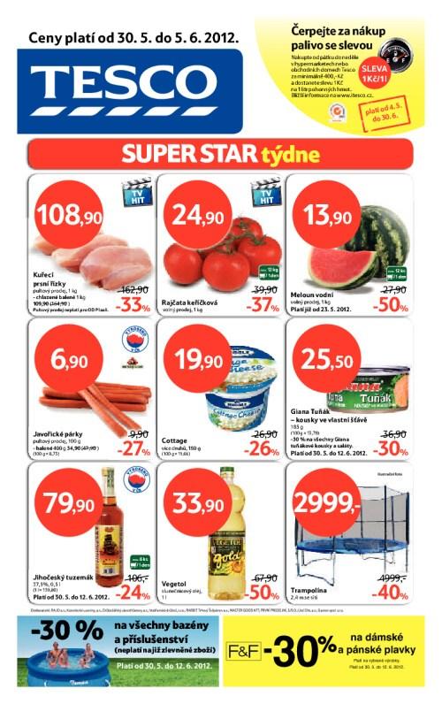 Leták Tesco hypermarkety (od 30. květen 2012 do 5. červen 2012)