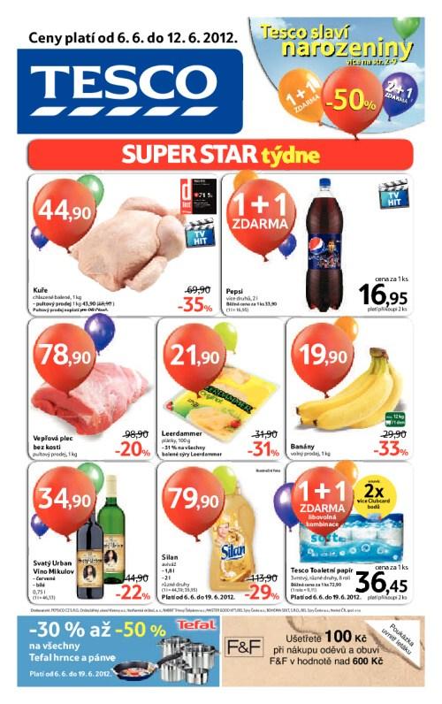 Leták Tesco hypermarkety (od 6. červen 2012 do 12. červen 2012)