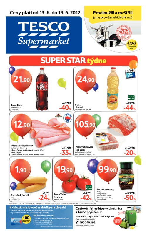 Leták Tesco supermarkety (od 13. červen 2012 do 19. červen 2012)