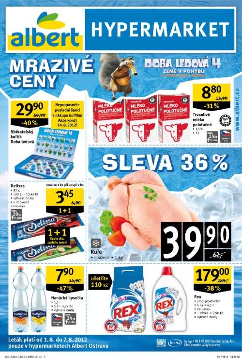 Leták Albert hypermarkety (od 1. srpen 2012 do 7. srpen 2012)