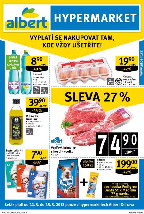 Leták Albert hypermarkety (od 22.srpen 2012 do 28.srpen 2012)