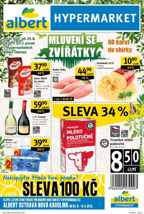 Leták Albert hypermarkety (od 29.srpen 2012 do 4.září 2012)